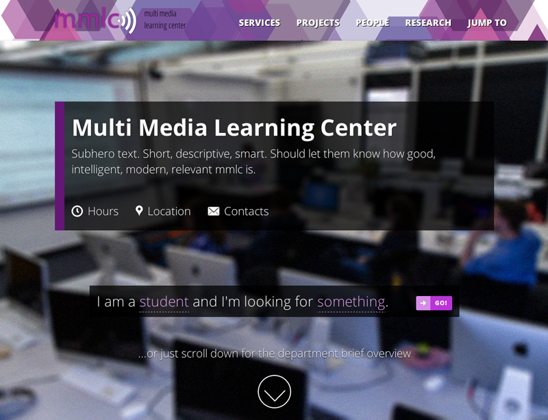 MMLC Home Page Redesign