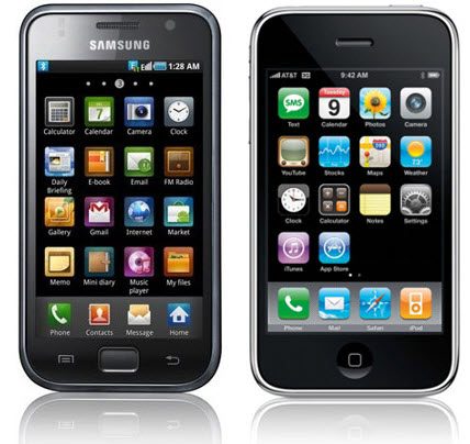 picture of iPhone and Galaxy
