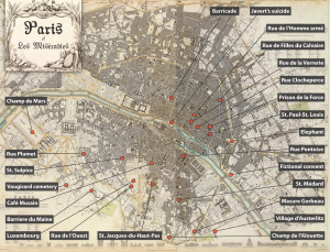 Map of many of the novel's landmarks