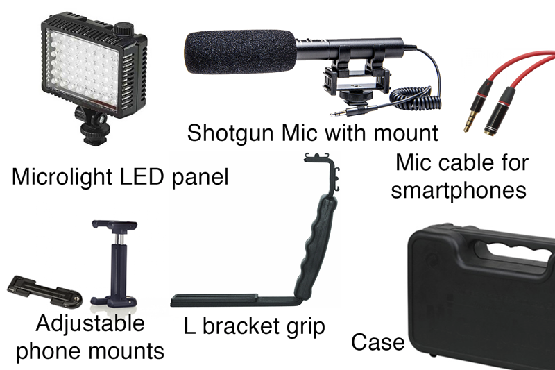 "A smartphone ""rig kit."""